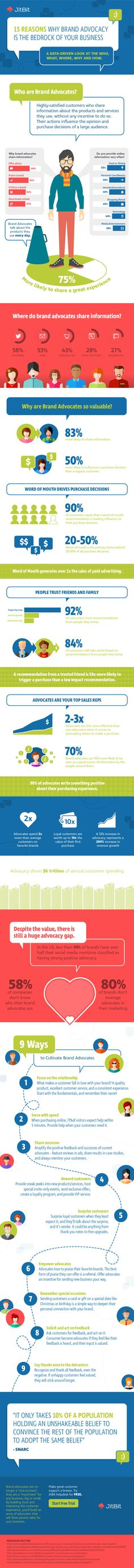 Brand advocates represent a major marketing opportunity - this infographic lays out some key data on advocacy and its potential.