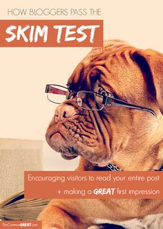 Passing The Skim Test - How to get your #blog visitors to read your entire #post + making a great first #impression. via TheCommonGreat.com