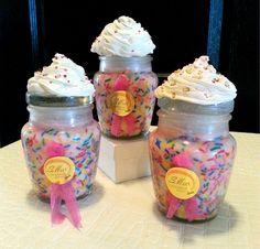 Handmade Natural Soy Cupcake Candles - Pink Sprinkles (or Custom Order) by SIDStudios on Etsy