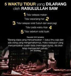5 Waktu Yang Dilarang Tidur oleh Rasulullah SAW