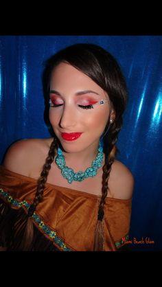 Pocahontas makeup Bridal Makeup Artists Miami, Bridal Hair Artists Miami, Miami Beach Makeup Artists