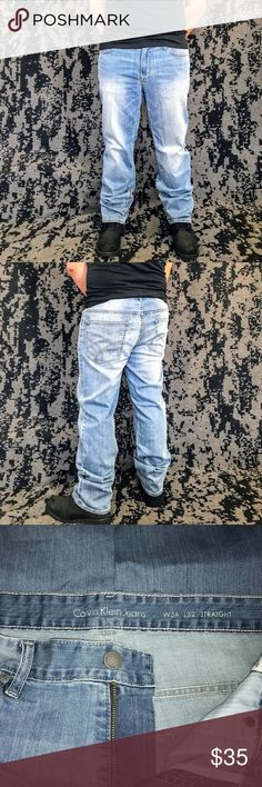 Calvin Klein Jeans Mens Straight Light Blue style: Straight  size: W-34          L-32 -Great Condition- Calvin Klein Jeans Jeans Straight