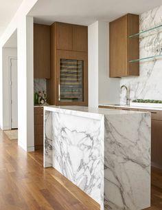 Jenkins Interiors: The Livable Luxury Granite, Stone Countertops, Kitchen Bar Design, Kitchen Designs, Calacatta Gold Marble, Stone Gallery, Beautiful Kitchens, Bars For Home, Room Interior