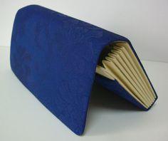 Royal blue silk clutch purse 1980s vintage by StyledinJapan