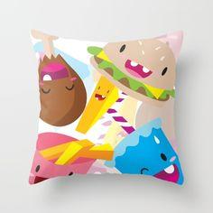 FatFood+Throw+Pillow+by+Sibriega+-+$20.00