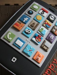iPhone birthday cake By Bambalini on CakeCentral.com