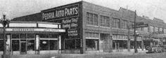 Peoria Auto Parts Peoria Illinois, Rear View Mirror, Old Pictures, Multi Story Building, Old Things, Louvre, Memories, Memoirs, Antique Photos