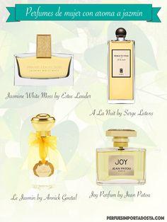 4 de los mejores perfumes para mujer con aroma a jazmín. #perfumes #infografia