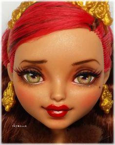 OOAK Custom Ever After Hohe Rosabella Schönheitspuppe Monster High Crafts, Custom Monster High Dolls, Monster High Repaint, Custom Dolls, Bjd, Ever After High, Bratz Doll, Ooak Dolls, Rosabella Beauty