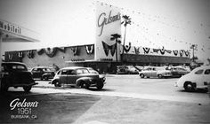 The grand opening of Gelson's Market at the corner of Hollywood Way and Victory in Burbank (July Designed by Stiles Clements, the new market was modernistic in design: Its front from floor to ceiling was glass instead of a cement, an industry first. Radio Flyer Wagons, School Places, Burbank California, Toluca Lake, I Love La, San Fernando Valley, Valley Girls, Pacific Beach, Los Angeles County