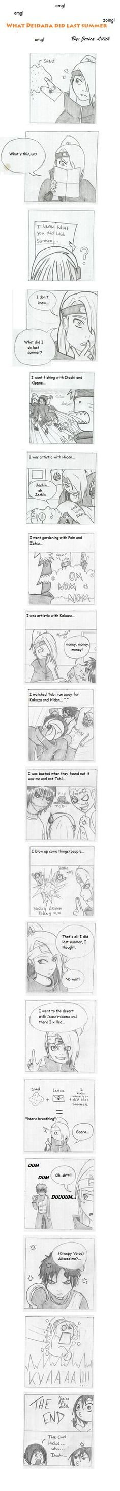 Comic 7: Comic 5: Admit you where a little bit shocked.... Don't lie! I know you where!!! =3= Don't be shyyy lol! I don't draw this way alot, no worries lol. But this is totally Hidan, don't you th...