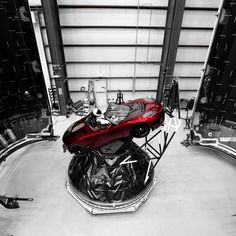 """A Triumphant First Launch for Elon Musk's Giant Rocket A car in space- the first step in a """"ride"""" to Mars!!"""
