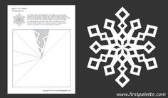 Paper snowflake template 4