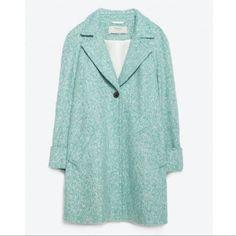 Nwt || Zara Turquoise Coat