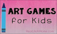 Art Games for Kids     RealLifeAtHome.com