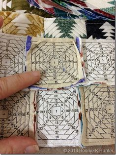 Quiltville's Quips & Snips!!: Connie from Quiltworks & the Teeny Tiny Pineapple Project!