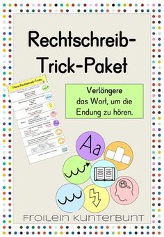 Spell-trick package - teaching material in German - Esare Poyna Education English, Teaching Materials, Spelling, Back To School, German, Packaging, Teacher, Writing, Reading
