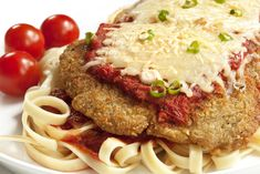 Pan-fried chicken parmesan - high fiber, low calories, reduced fat - as shown on Dr. Oz show- I LOVE CHICKEN PARM. Fried Chicken Parmesan, Pan Fried Chicken, Chicken Parmesean, Breaded Chicken, Frozen Chicken, Traditional Australian Food, Great Recipes, Favorite Recipes, Yummy Recipes