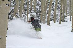 Teen topanga snowboarding