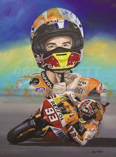 Marc Marquez limited edition art print by Greg Tillett MotoGP Honda poster Motorcycle Clipart, Motorcycle Art, Marc Marquez, Motor Logo, Gp Moto, Kawasaki Zx10r, Honda Motors, Vinales, Poster Prints