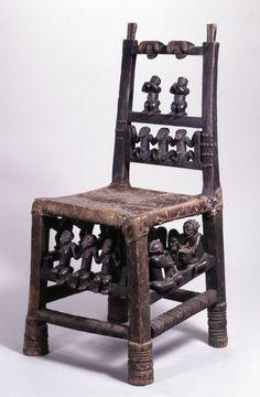 Chokwe Ngundja Chair, Angola http://afriart.tumblr.com/post/89382472104/angola-chokwe-ngundja-ceremonial-chair