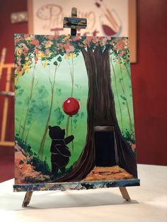 Christopher Robin events at Painting with a Twist Disney Canvas Art, Disney Art, Easy Canvas Art, Diy Canvas, Oil Painting For Beginners, Disney Paintings, Simple Acrylic Paintings, Paint And Sip, Paint Party