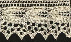 Free knitting pattern for apple leaf lace, a pointed edge lace with embossed leaf pattern. Updated for modern knitters, charted and test knit.