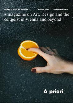 coverjunkie — New cover art magazine A Priori from Vienna,...