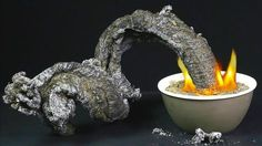 The black snake experiment - When the baking soda gets hot, it makes carbon dioxide gas. The pressure from this gas pushes the carbonate from the burning sug...