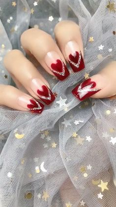 14 Sweet Valentine& Day nail designs for you 2020 14 Sweet Valentine& Day nail designs . - 14 Sweet Valentine& Day nail designs for you 2020 14 Sweet Valentine& Day nail designs - Valentine's Day Nail Designs, Nail Art Designs Videos, Nail Art Videos, Cute Acrylic Nails, Cute Nails, Pretty Nails, Holiday Nails, Christmas Nails, Valentine Nail Art