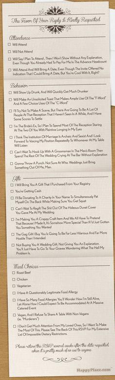 #Wedding #invitation : #Funny I#dea for #Invites !