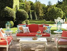 Frontgate Glen Isle White Collection - Outdoor Furniture Sets