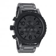 The Nixon Chrono matte black and matte gunmetal watch. Big Watches, Sport Watches, Cool Watches, Watches For Men, Nixon Watches, Casual Watches, Junghans, Stainless Steel Watch, Automatic Watch
