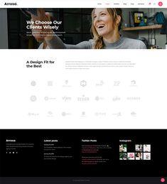 Introduce every aspect of your business easily with Arrosa WordPress theme. Creative Portfolio, Ux Design, Creative Business, Wordpress Theme, Colorful, Modern, Trendy Tree, Ui Design