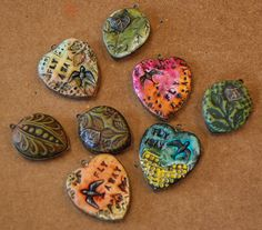 Creative Polymer Clay Bezels- these would be super cute on cards!