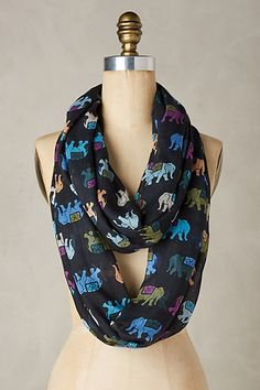 Painted Elephant Scarf #anthropologie
