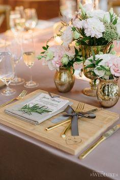 photographer: Mango Studios; wedding reception centerpiece idea;