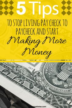 5 tips to stop living pay check to pay check and start making more money online and offline. Such a great piece I too have found myself trying to find ways to make more money fast and this post was super helpful and relateable. Seriously read this post http://youngyetwise.com/the-perfect-advice-for-anyone-whos-struggling-to-make-ends-meet/