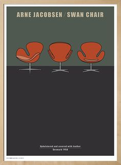 Design Plakat - The Swan af Arne Jacobsen - Svanen