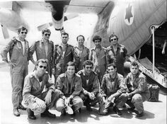 Israeli Airforce crew from the raid on Entebbe in June 1976