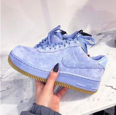 Adidas Women Shoes - Sneakers women - Nike Air Force 1 Upstep blue (©broganwest) - We reveal the news in sneakers for spring summer 2017 Adidas Shoes Women, Nike Women, Sneakers Women, Cute Shoes, Me Too Shoes, Estilo Nike, Nike Air Force 1, Air Force Shoes, Sneaker Heels