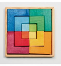 Vierkant puzzelblok