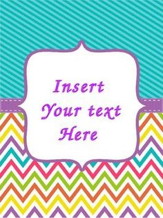 Editable Teacher Binder Covers & Spines {Chevron Brights}: