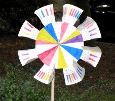 Windrad aus einem Pappteller basteln