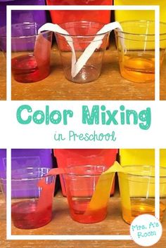 Mixing Colors Ideas and activities for color mixing science in preschool, pre-k, and kindergarten.Ideas and activities for color mixing science in preschool, pre-k, and kindergarten. Color Activities Kindergarten, Color Activities For Toddlers, Preschool Science Activities, Preschool Colors, Pre K Activities, Kindergarten Lesson Plans, Kindergarten Activities, Science Experiments, Preschool Crafts