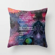 the sun never says Throw Pillow