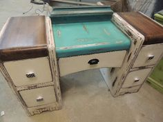 Sweet Blossom Chic: ANTIQUE WATERFALL VANITY***SOLD THANK YOU***