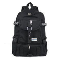 c3d6871239 New Fashion arcuate shouider strap zipper solid casual bag male backpack  school bag canvas bag designer backpacks for men