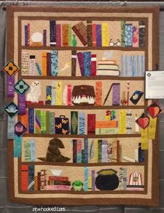 The Project Of Doom, A Harry Potter Bookcase Quilt  •  Make a patchwork quilt