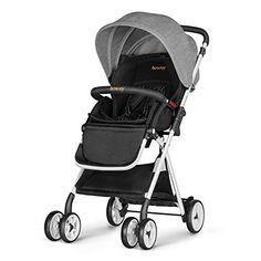 Besrey Lightweight Baby Stroller Foldable Lightweight Stroller,Infant Adjustable Pushchair Pram with Storage Basket,for Months(Grey) Travel Buggy, Baby Girl Strollers, Baby Buggy, Crawling Baby, Pram Stroller, Travel System, Baby Carriage, Prams, Rain